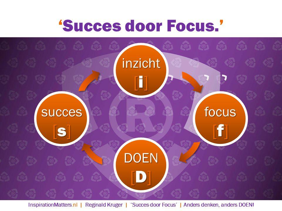 'Succes door Focus.' [i] [s] [f] [D] inzicht succes focus DOEN